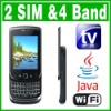 SIM Dual Standby Java TV WIFI QWERTY Slide Phone