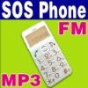 SOS Big Button Quad band Mobile Old Senior Elderly MP3