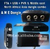 Sale MINI A M E Dongle fta satellite tv receiver decoder for Middle East/North Africa/Asia dongle