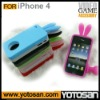 Silicone game case for iphone 4 rabbit case