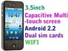 Super hot H2000 Capacitive 4 Band Dual Sim Android Smart phone