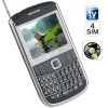 Surveillance Qwerty keyboard quad SIM mobile phone with hidden camera (4 COLOUR) E9650B