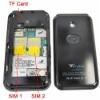 T2000 dual sim wifi cell phone,analog TV,Quad band,JAVA,MSN,E-mail