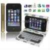 T8000 Golden, 270 Degree Menu Rotate & Leather Case with Keyboard, TV(SECAM/PAL/NTSC) & WIFI & JAVA, Bluetooth FM Function Touch