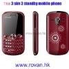 T88 three sim cheap Mobile phone