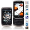 T9800 Quad Band Dual Cards with Analog TV Java QWERTY Keybord Touch Screen CellPhone Black