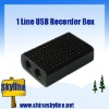 TYH8200,1 line usb telephone recorder box,support analog phone only