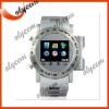 Touch Screen Watch Mobile phone W980 Steel House 2.0 megapixels Camera Expand Memory Quadband Bluetooth Watch Phone