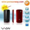 Ultra-thin PDA low price mobile phone 3.0 WQVGA screen,dual sim dual standby, MTK6225,mp4, bluetooth, wap, K-MOVIEtorch,open FM.