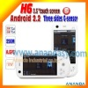 Unlocked Android GSM mobile phone dual sim H6