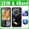Unlocked Dual Sim AT&T T mobile TV phone Greek T8000i