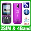 Unlocked GSM Dual SIM Dual Standby Java TV Cell phone