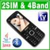 Unlocked GSM Dual SIM Dual Standby Java TV mobile phone