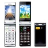 V11 senior elder's easy cell phone flip large keypad&display with torch and dual SIM