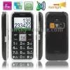 V200 Black, Elders Super Simple GSM Unlocked Mobile Phone, Dual sim cards Dual standby, Support FM radio, LED Flashlight, SOS fu