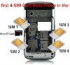 Very Hot Sell 4 sim cards TV Mobile Phone Cell Phone