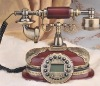 Vintage classic old ligneous telephone