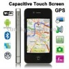 W008 Black, 1:1 4S, GPS + AGPS, Android 2.2 Version, Wifi Bluetooth FM Function 3.5 inch Capacitive Touch Screen Mobile Phone, Q