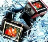 W08 waterproof watch mobile phone,Quad band watch phone,1.3MP camera,1GB bluetooth headset,watch cell phone