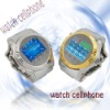 W360 cheapest stainless steel watch mobile phone 1GB&Bluetooth headset