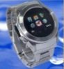 W360 newest stainless steel watch mobile phone 1GB&Bluetooth headset