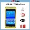 W98 Quad Band Dual Cards Dual Cameras WiFi Color TV Bluetooth Java 3.0 - inch Touch Screen original mobile phone