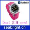 Watch phone ( S60 with dual sim card touch screen qual brand and bluetooth FM )