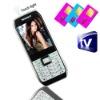 White Three Sim Standby TV bluetooth Torch light Cell Phone mini E371