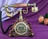 Wooden noble retro telephone