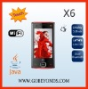 X6 WiFi Cell Phone with TV JAVA mobile