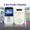X8 White, Analog TV (SECAM/PAL/NTSC), 3 Sim cards 3 standby, Bluetooth FM function Mobile Phone, Quad band, Network: GSM850/ 900