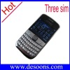 ZX-K68 Three sim cards  fashionable mobile phone