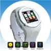bluetooth phone watch with camera.Support takes pictures,Viedo record and Sound record,FM radio function Q998