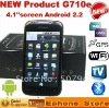 capacitive screen G710e 4.1 inch touch screen Dual sim cards Android 2.2 smart phone