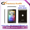 cheap MTK6573 capacitance touch android 5inch smartphone