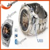 hot selling Watch Phone W950,Stainless Steel Quad-Band,Touch-Screen with bluetooth
