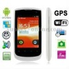i180 White, GPS + Android 2.2 Version, Wifi Bluetooth FM function Mobile Phone, Dual Sim cards Dual standby, Quad band, Network: