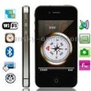i4GS Black, Wifi & Compass & Bluetooth FM function Touch Mobile Phone, Dual Sim cards Dual standby Dual camera, Slip-operation c