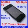 i9 5G TV Dual SIM TV Phone Quad Band Dual Camera Support Greek Polish Hebrew
