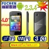 latest A3 2012 cell phones with MTK6573 3G Android 2.3.4 4.0'' WVGA Capacitive touch Screen GPS + AGPS Java Wifi