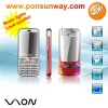 long standby battery dual sim mobile phone with bluetooth mp3 mp4 neon light