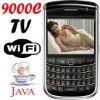 mini 9000c unlocked wholesale WIFI mobile phone with TV function,supporting tracking ball