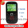 qwerty 3 sim cellphone gsm MAX-S8