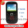 qwerty 3 sim gsm cellphone gsm MAX-S8