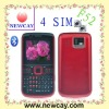 qwerty 4 sim phone