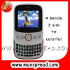 qwerty slider cellular tv phone E10