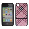 rubberized snap-on hard plastic cell phone case for Iphone 4G