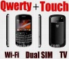 touch screen mobile phone 9900 with and qwerty keyboard