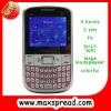 triple sim card cell phone Q9