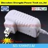 white output 12v 1a max USA plug travel charger